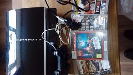 Playstation 3 . leads. Controller. Games .