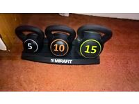 Mirafit Kettlebell Set With Stand Brand New