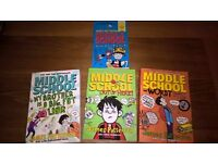 Middle School Children's books x 4 by James Patterson