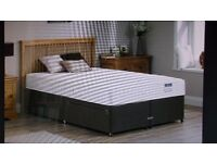 KINGSIZE DIVAN BED PLUS MATTRESS FROM DREAMS UNWANTED PRIZE.DELIVERY IN STOCKPORT AREA