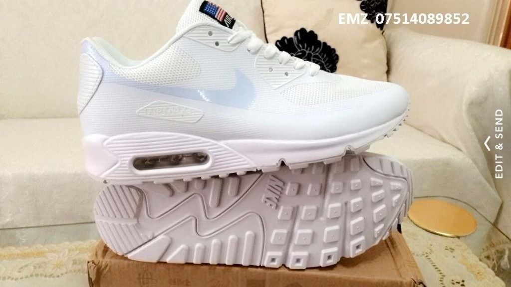 magasin en ligne 721dd 60793 nike air max 90 hyperfuse white independance day all sizes inc delivery  paypal   in Ladywood, West Midlands   Gumtree