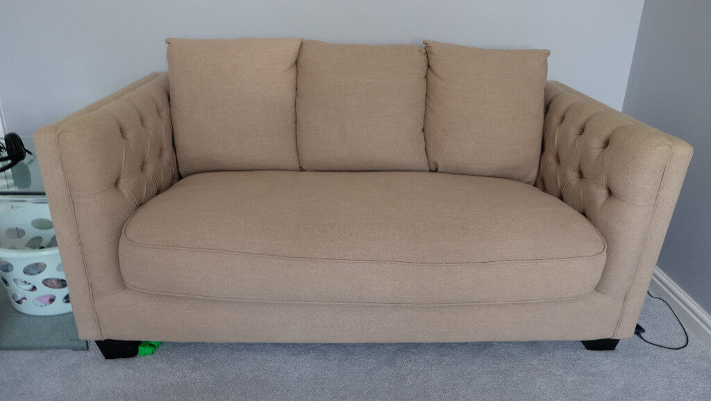 3 Seater Sofa Duck Feather Filling Seat And Back Cushions