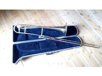 Trombone with case