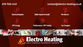 Electrical services, Repairs, Installations, EICR, PAT test, Car charger, Fire alarm certificate.