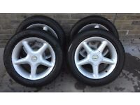 *** TSW STEALTH ALLOY WHEELS AND TYRES 4 STUD HONDA BMW CHEAP!!! ***