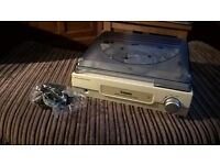 Steepletone ST918 3 Speed Record Player / Turntable NEW