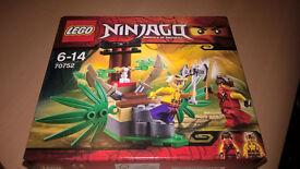 Lego Ninjago 70752 6-14 ys brand new, unopened in box. Jungle trap 2 minifigures