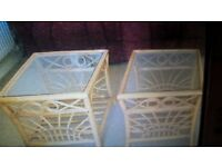 conservatory wicker coffee tables