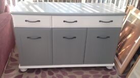 Solid Mahogany Painted side unit