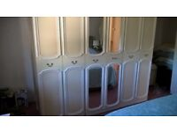 Large white bedroom wardrobe in very good condition. Open to offers.