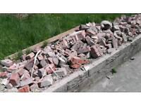 Free hardcore brick rubble