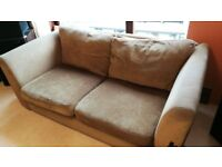 FREE - 3 seater sofa in light brown material - FREE