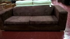 Chocolate coloured 2 seater