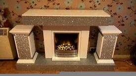fireplace and columns