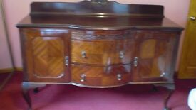 Victorian/Edwardian mahogany sideboard with queen anne legs
