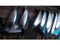 ben hogan radial golf irons + others as photo