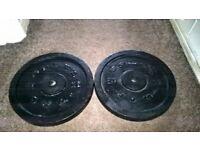 2 x 20kg Golds Gym Cast Iron Weight Plates