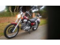 YAMAHA VIRAGO XV 535 CC COLOUR RED ...Mileage 25300.Used motorcycle in excellent condition.........