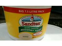 3 x 7.5l brand new magnolia masonry paint