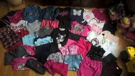 Girls Massive Bundle size 7-8 years (44items): Next, H&M, M&S, Roxy, Gorge, O'Neil, Redherring, F&F