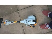 Ryobi expand it touch start petrol strimmer with lawn edger attatchment + battery and charger + VGC