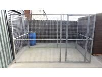 GALVANISED DOG PEN RUN KENNEL CAGE
