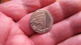 20p Undated coin mule coin mint mistake very rare good present