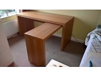 Ikea, Malm desk with pull out oak veneer & office chair all good condition