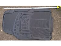 Car mats set off, rubber suitable for 4x4, car, van etc, new and unused
