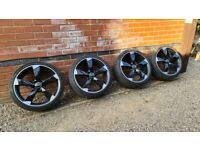 """Audi Rotor Style 19"""" Alloy Wheels Continental Tyres 5x112"""