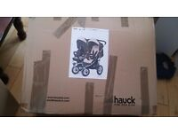 Hauk double pushchair