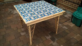 Tile toppped table