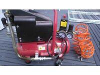 Spray compressor complete with spray gun