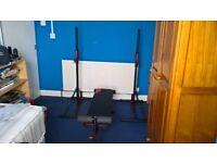 Domyos 100 Rack & Fold Down Weight Bench Brand New