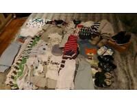 Baby clothes bundle (various sizes)