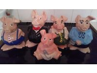 Family of wade NatWest pigs