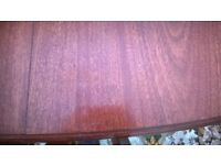 Mahogany Extending Dining Table & 4 Upholstered Chairs
