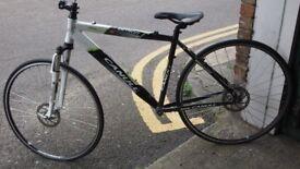 "Bicycle 18"" Frame; Forks & 700c Wheels & Tyres For Hybrid Road Bike"