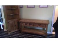 Corner Unit and Console Table