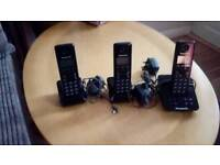Panasonic trio cordless phones
