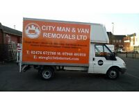Man and Van Removal Services Coventry - Starting From £20 Per Hour Fully Insured & Professional