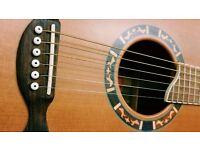 Crafter GT-15 Acoustic Folk Guitar Solid Top Beautiful Inlays