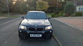 BMW X3 2012 Carbon Black M Sport 2.0d X Drive Black Leather 10Months MOT FSH(BMW)