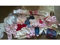 baby girl clothes bundle, aged 0-3 months
