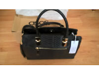 ASOS Black Croc Handbag - new - £25.