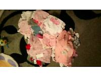 Massive bundle of firstsize/newborn baby girls clothes