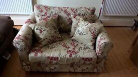 John Lewis floral armchair preloved