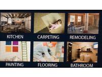 Kitchen,Bathroom,Painting,Flooring,Carpenting,