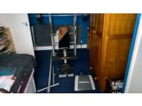 V.Fit Multi-Use Bench With Bar & 60kg Of Tri Grip Cast Weights