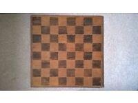 Chess board, approx 35cm x 35 cm,